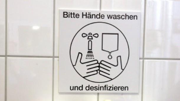 Händewaschen nicht vergessen