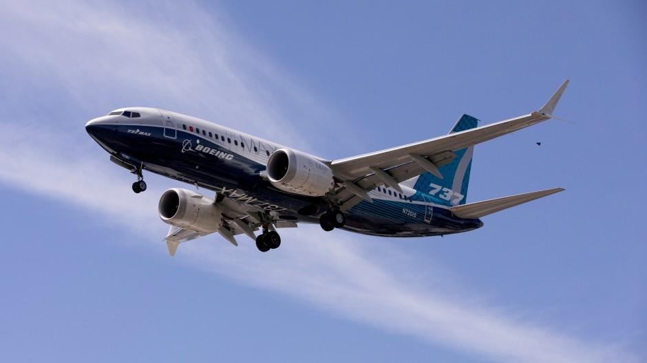 Eine Boeing 737 MAX auf einem Testflug