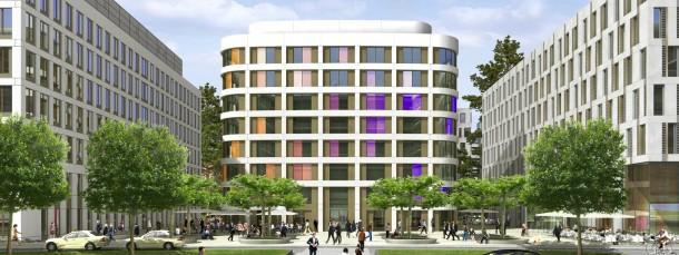 Perfektion schon in der Simulation: Die Fassade des Element-Hotels ändert je nach Lichteinfall ihre Farbe.