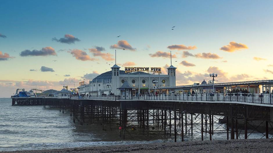 Ich war schon lange nicht mehr in Brighton, sagte Graham Swift - ein Blick auf den Pier.