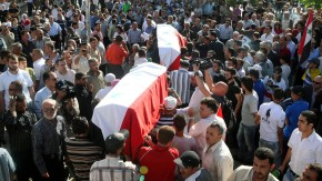 Funeral for victims of attack in Damascus