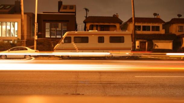 Dunkelheit über dem Sunset Boulevard