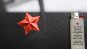 Roter Stern über Frankfurt