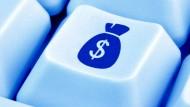 Kann sich auch nicht jeder leisten: Tastatur mit Geld-Taste.