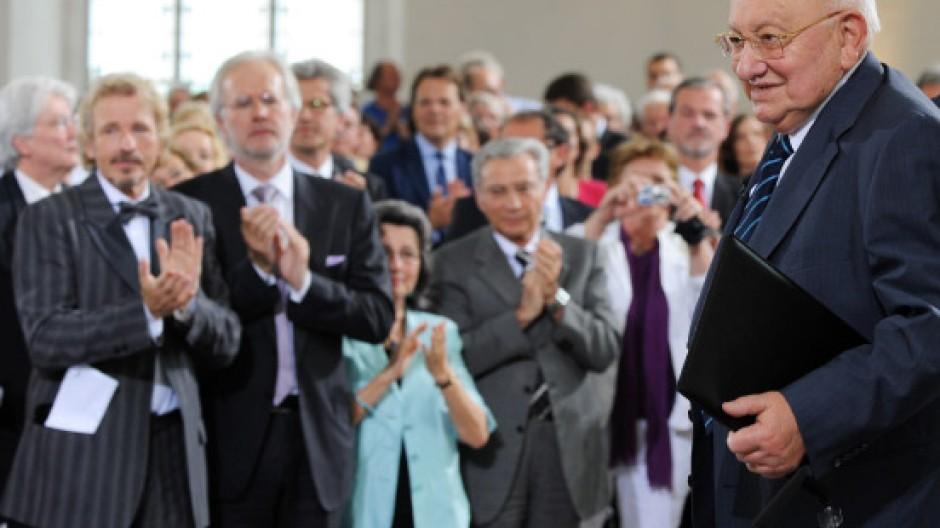 Marcel Reich-Ranicki bei der Verleihung der Börne-Medaille in der Frankfurter Paulskirche
