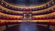 Blick in das leere Teatro Real