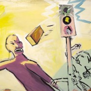 """""""Ziegelneger"""" von Georg Herold, 1981, in der neuen Dauerausstellung des Städel."""