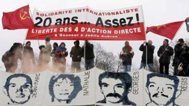 """Sympathisanten fordern Freilassung von """"Action Directe""""-Terroristen"""