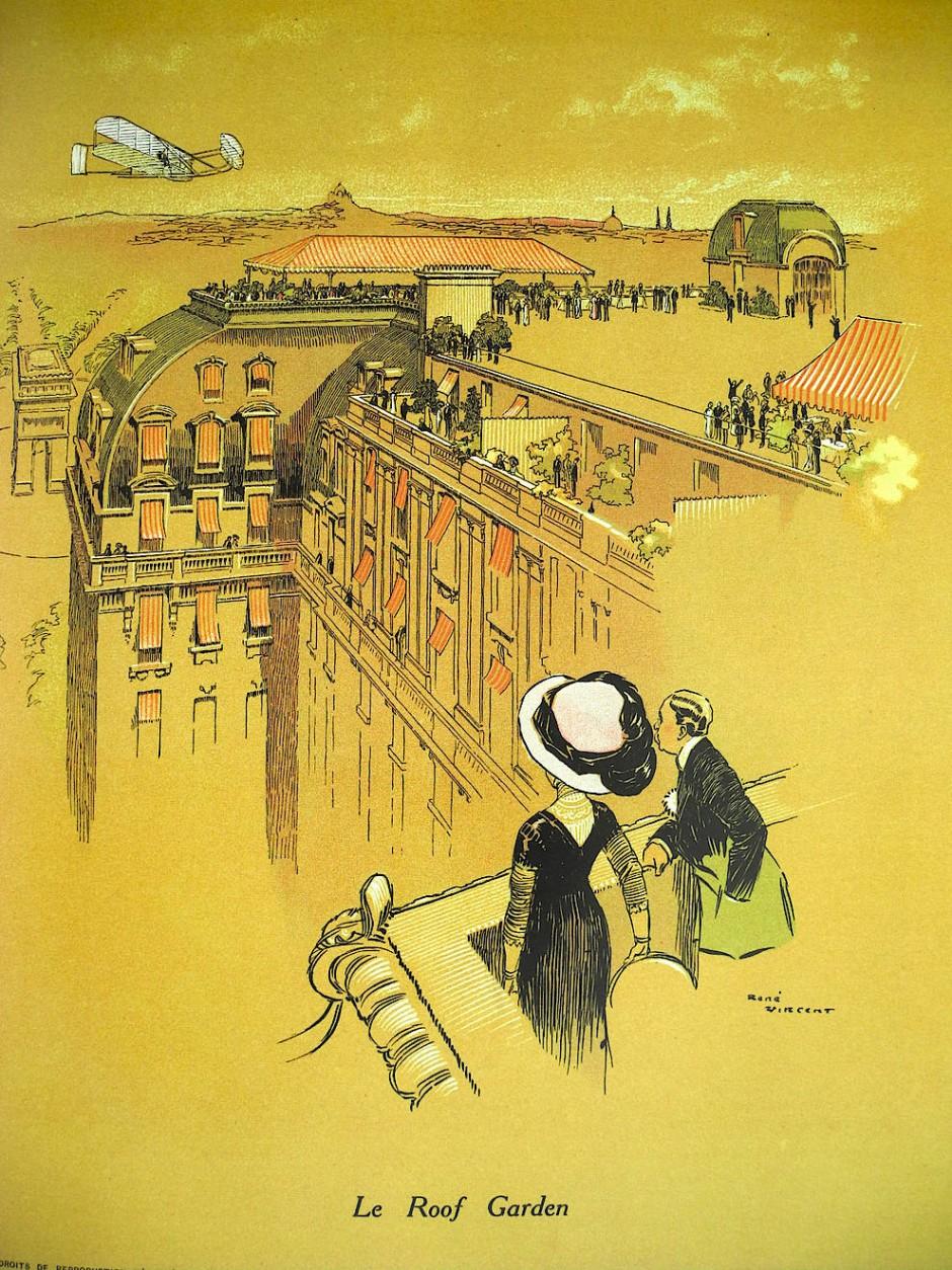 Die grandiose Kulisse des Peninsula über den Dächern von Paris faszinierte Besucher bereits 1908. Seinerzeit hieß das Hotel noch Majestic.