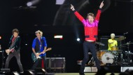 Die Rolling Stones bei einem Auftritt auf dem Desert Trip Musikfestival in Kalifornien