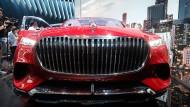 Auf Einschüchterung aus: Mercedes-Maybach-Studie, vorgestellt Ende April in Peking