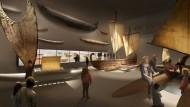 Weltreisen im Kopf: Blick in die künftige Bootshalle
