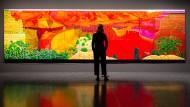 Der Grand Canyon im Riesenformat, auf sechzig einzelne Leinwände gemalt: Blick in die Hamburger Ausstellung