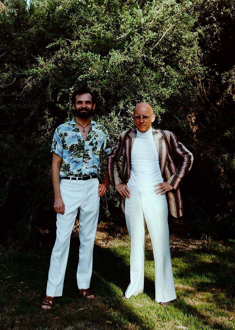 Simeon Wade mit Foucault in Claremont nach der Rückkehr aus dem Death Valley.