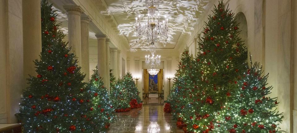 Melania Trump Zeigt Weihnachtsdeko Im Weissen Haus