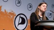 Anke Domscheit-Berg, im November 2012 beim Piraten-Parteitag in Bochum