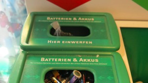 Den grünen Sammelstellen für Batterien droht das Aus