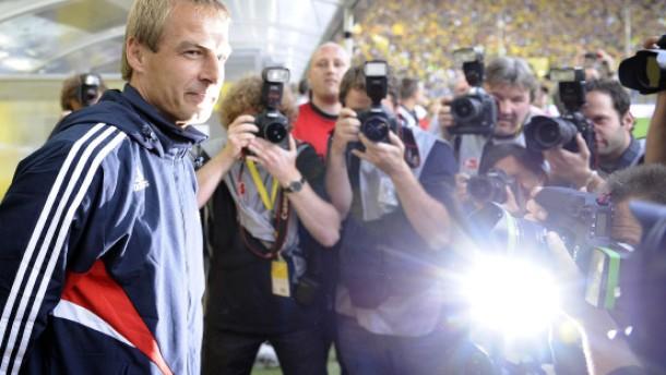 Klinsmann verstärkt die Homepage der Bayern
