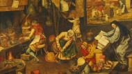"""Wissenschaftsbetrieb im 16. Jahrhundert: Der """"Alchemist"""" aus der Nachfolge von Pieter Brueghel dem Älteren"""