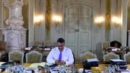 Der Mann, der lieber verbirgt, wie interessant er ist: Sigmar Gabriel, Ende Mai bei der Kabinettsklausur in Meseberg