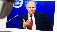 Unlängst aufgefrischt: Die Website des russischen Präsidenten Putin