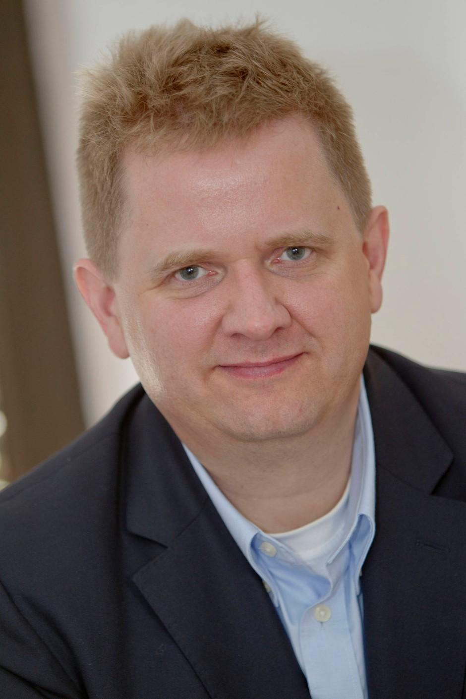 Er sucht Mitstreiter im Kampf gegen den Giganten: der Verleger André Thiele.
