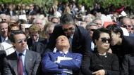 """In der """"Süße des Daseins"""" schwelgend? Silvio Berlusconi bei einer Veranstaltung in Dallas, Texas."""