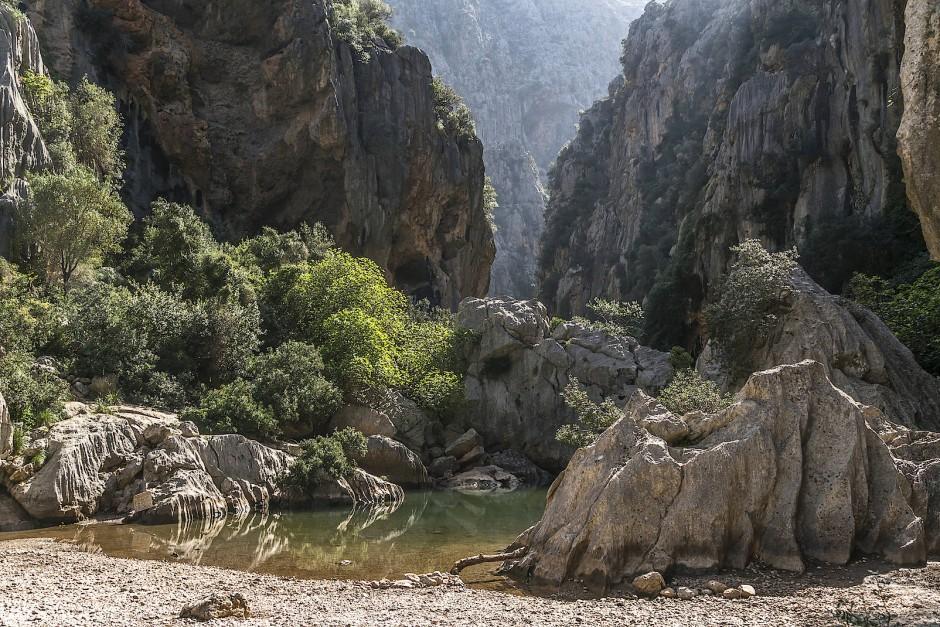Schlucht bei Sa Calobra in der Serra de Tramuntana