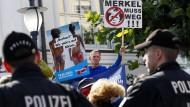 Wahlkampfszene in Binz auf Rügen