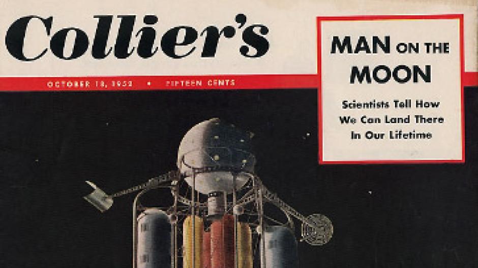 Wegweisende Zukunftsschau: Titelcover der Zeitschrift Collier's vom 18. Oktober 1952