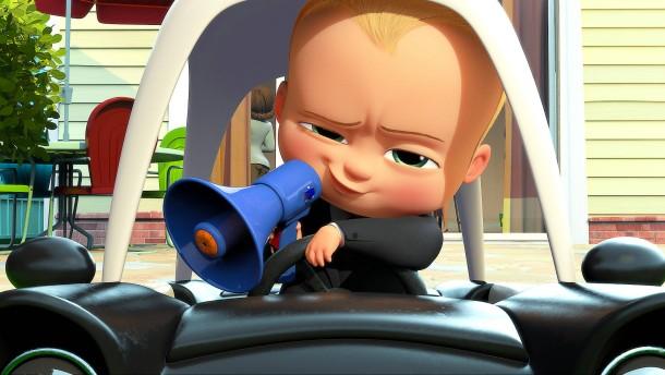 Das Biest ringt mit dem Baby-Boss