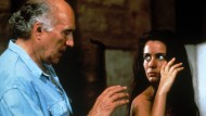 "Michel Piccoli 1991 mit Emmanuelle Béart in Jacques Rivettes Film ""Die schöne Querulantin"""