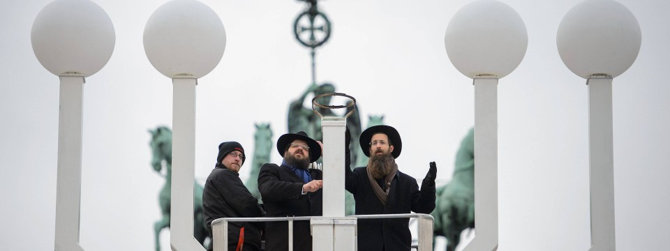 alberne Rabbiner sind Tritte
