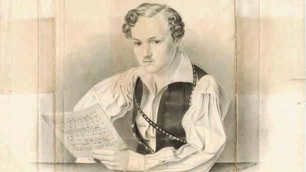 """Porträt zeigt das """"derzeit einzige greifbare Bildzeugnis"""" von Büchner"""