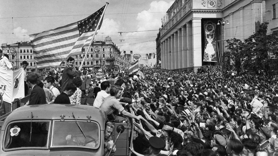 Der Sommer des russischen Rock'n'Roll: Amerikanische Gäste beim Weltfestival der Jugend in Moskau, 1957.