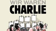 """Erinnerung an das Attentat vor fünf Jahren: Das Cover des Buches """"Wir waren Charlie"""" von dem Zeichner Luz (Rénald Luzier)."""