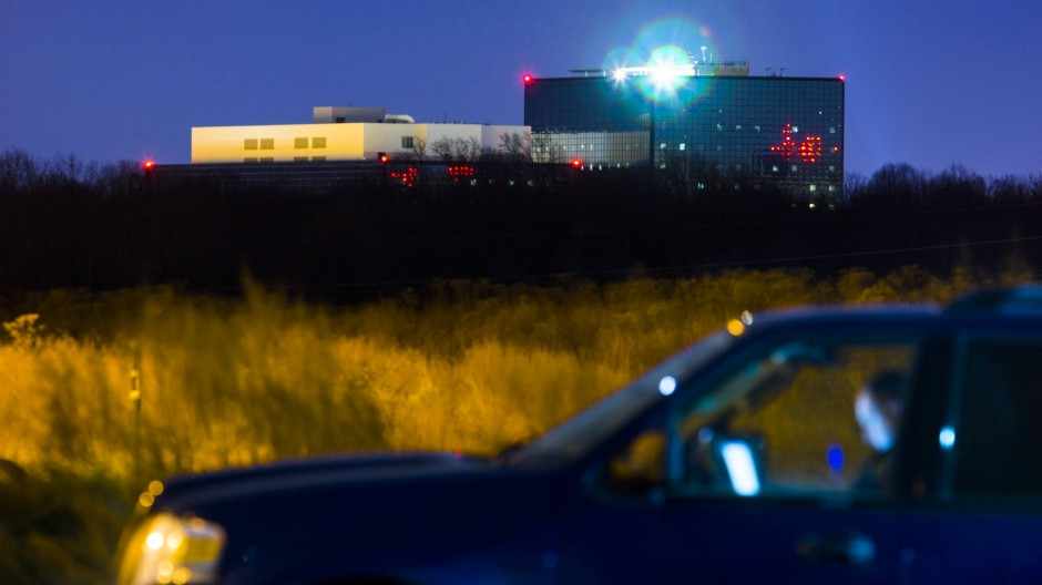 Die NSA-Zentrale in Fort Meade in der Dämmerung