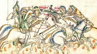 Heiliger Krieg vor Jahrhunderten: Kreuzfahrer kämpfen im Juli 1187 bei Hattin gegen die Truppen des Sultans Saladin.