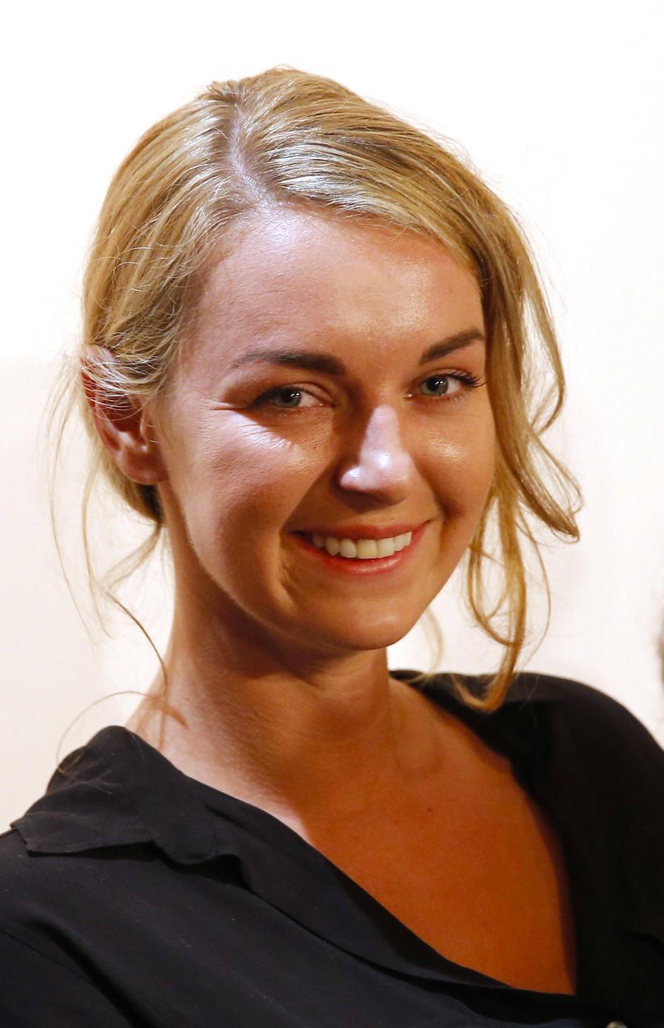 Valerie Fritsch, hier 2015 als Gewinnerin des Kelag-Preises in Klagenfurt.