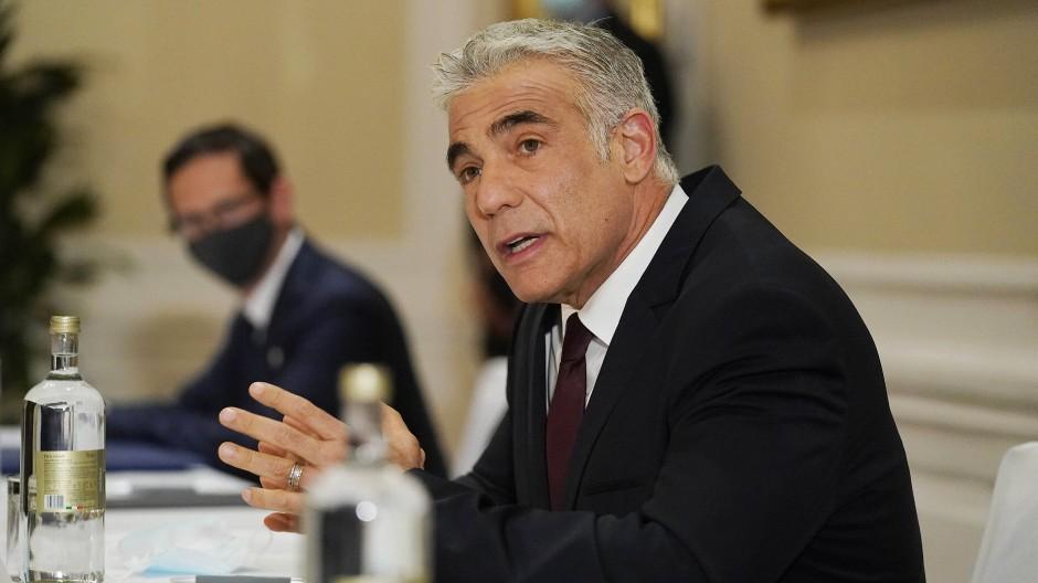 Der israelische Außenminister Jair Lapid Ende Juni in Rom