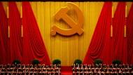 SPD-Parteitage sehen anders aus: Die Führung der Kommunistischen Partei Chinas in der Großen Halle des Volkes in Peking.