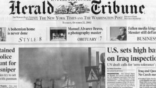 """Droht der """"Herald Tribune"""" das Aus?"""