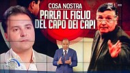 "Ein umstrittener Gast: Mafiosi Giuseppe Salvatore Riina in der Fernsehshow ""Porta a Porta""."