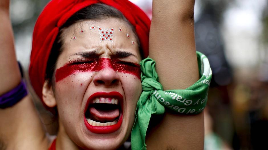 Protestmarsch am Internationalen Frauentag in Buenos Aires, März 2020