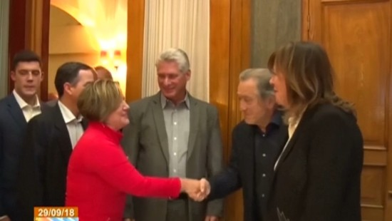 Kubanischer Präsident trifft Robert de Niro