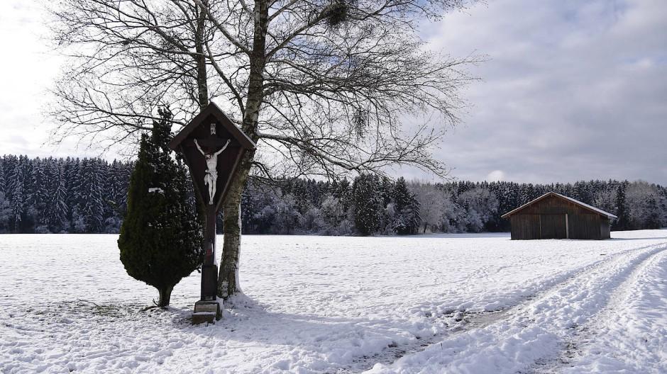 Am Freitag bei Holzkirchen in Bayern