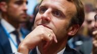 Homme de lettres: Präsident Macron bei der Eröffnung der Frankfurter Buchmesse im Oktober 2017