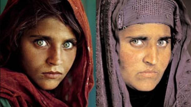 pakistan afghanisches m dchen mit gr nen augen verhaftet. Black Bedroom Furniture Sets. Home Design Ideas