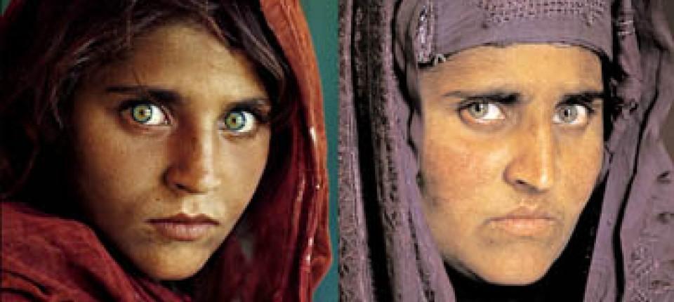 Pakistan Afghanisches Mädchen Mit Grünen Augen Verhaftet