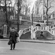 Die Strudlhofsteige in Wien auf einem Foto von 1961